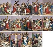 16 X 24 Metal Plate Traditional Outdoor Indoor Stations Of The Cross