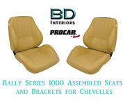 Rally 1050 Series Assembled Seats And Brackets 80-1050-54 For 1964 -1977 Chevelle