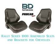 Rally 1050 Series Assembled Seats And Brackets 80-1050-51 For 1964 -1977 Chevelle