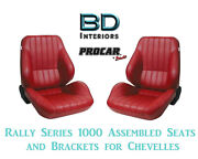 Rally 1050 Series Assembled Seats And Brackets 80-1050-58 For 1964 -1977 Chevelle