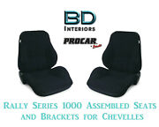Rally 1050 Series Assembled Seats And Brackets 80-1050-61 For 1964 -1977 Chevelle