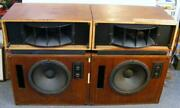 Working Pair Of Altec Lansing Model Nineteen 19 Speakers With Crossovers