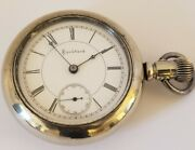 Antique Working 1892 Rockford Victorian Silver Gents 15j Pocket Watch 18s R.w.co