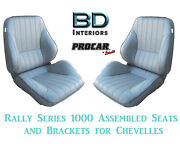 Rally 1050 Series Assembled Seats And Brackets 80-1050-52 For 1964 -1977 Chevelle