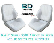 Rally 1050 Series Assembled Seats And Brackets 80-1050-53 For 1964 -1977 Chevelle