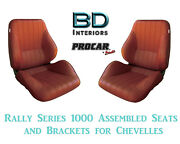 Rally 1050 Series Assembled Seats And Brackets 80-1050-56 For 1964 -1977 Chevelle