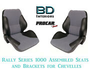 Rally 1050 Series Assembled Seats And Brackets 80-1050-73 For 1964 -1977 Chevelle