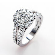 1.10 Carat New Round Real Diamond Engagement Rings 14k White Gold Size 5 6.5 8 9