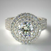 1.25 Ct Brand New Real Diamond Engagement Ring Solid 14k White Gold Size 5 6 7 8