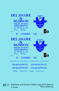 K4 S Decals Delaware And Hudson 50 Ft Boxcar Blue