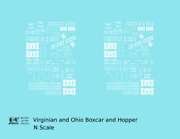 K4 N Decals Virginian And Ohio Boxcar And Hopper White Vando