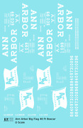 K4 O Decals Ann Arbor 40 Ft Boxcar White Large Flag