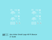 K4 Z Decals Ann Arbor 40 Ft Boxcar White Small Flag / Compass