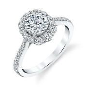 14k Solid White Gold Round Cut 1.00 Ct Real Diamond Engagement Ring Size 5 6.5 7