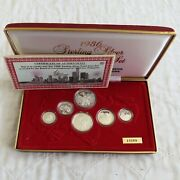 Singapore 1986 6 Coin Sterling Silver Proof Set - Cased/coa