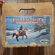 Bloomfield Farms Firewoodoriginal 1977 Box Crate And Labelscounty Horse Cowboy