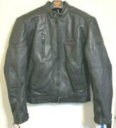 Akito Bodyguard Leather Motorcycle Jacket Size S Racing Quality 1.1-1.3mm Thick
