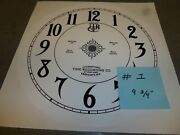 International Time Recording Co Time Clock Replacement Dial Face Antique Vintage