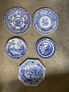 Spode Blue Room Plates Assorted Scenes Rome Willow Floral Filigree Caramanian 6