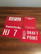 Sign Lot Fire Dept. Upstate Ny Fire Signs. Reflective Signs 60andrsquos