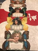Vintage 1904 Calendar For The Christian Herald Butterfly Girls By Brundage