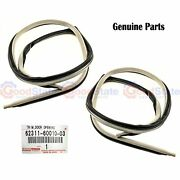 Genuine Landcruiser 80 Series Front Door Opening Trim Channel Weatherstrip Kit