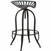 Coaster Casual Adjustable Curved Metal Bar Stool In Antique Black