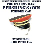 Menand039s 7-1/4 Us Army Band Pershingand039s Own Red Cover Service Dress Blue Uniform
