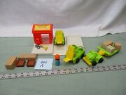 Vtg Fisher Price Little People 944 Rare Lift Load Lumber Yard Truck Real Wood A
