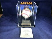 A3-81 Nolan Ryan Houston Astros Signed Baseball In Case - Certificate Authentici