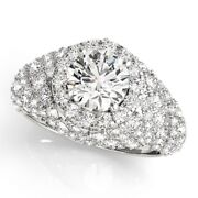 2.00 Ct Round Cut Real Diamond Engagement Rings 14k Fine White Gold Size 5.5 6 7