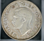 1939 Half Crown Great Britian George Vi Old Silver - Free Shipping  Ac-308