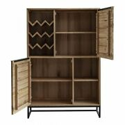 Moeand039s Home Nevada Wood Bar Cabinet In Brown