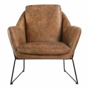 Moeand039s Home Greer Leather Club Chair In Cappuccino