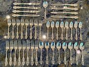 Reed And Barton El Greco Solid Sterling Silver Flatware 40piece Setting Not Scrap