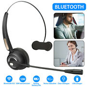 Bluetooth Headset Call Center Meeting Laptop Headphone Boom Mic Noise Cancelling