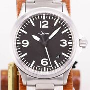 Sinn 556a Automatic Black Silver Stainless Round Analog 39mm Menand039s Free Shipping