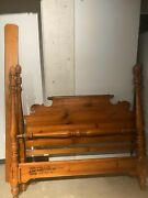 Antique Low Poster Bed Frame Made In The Us