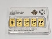 2016 1/10 Oz Canada Gold Royal Canadian Mint - 5 Total Gs