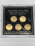 American Gold Eagle 5 Coin Set • United States Gold Vault • 2020 1/10 Oz Gs