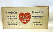 Scarce 1940s Advertising Poster Hart Cleaners Dyers Covington Newport Ky 21 X 11