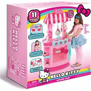 Hello Kitty Kitchen Cafe Pretend Play Toy Kitchen And Accessories Lights And Sound