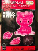 Awesome Rare Sanrio Hello Kitty Original 3 D Puzzle Crystal Pink Ages 12+ Level2
