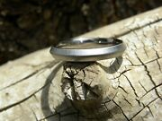 3mm Knife Edge Titanium Band Ladies Mens Frosted Made To Order