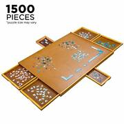 Jumbl Puzzle Board | 27 X 35 Wooden Jigsaw Puzzle Table W/smooth Work Surface