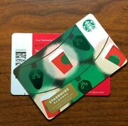 Starbucks Gift Card 2019 Rare Black Line Red Cup Gold Light Christmas No Value