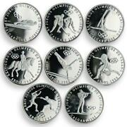 Panama Set Of 8 Coins Summer Winter Olympic Games Silver 1988