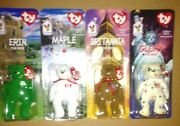Ty Beanie Babies - Glory, Maple, Erin And Britannia All Four New In Packaging
