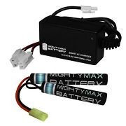 Mighty Max 8.4v 1600mah Nimh Butterfly Replaces Sig Commando 552 + 8v Charger