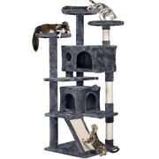 55 Cat Tree Tower Condo Furniture Scratching Scratch Post Pet Kitty Play House